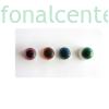Biztonsági szem játékhoz/bábuhoz, méret: 16 mm, glitteres, türkizkék színű - 1 pár