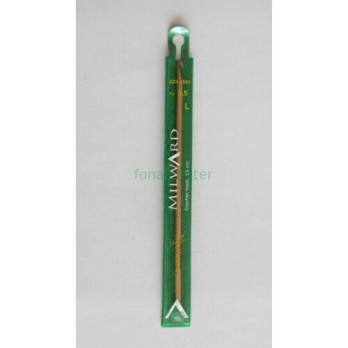 MILWARD Horgolótű-bambusz, 15cm, 3,5mm