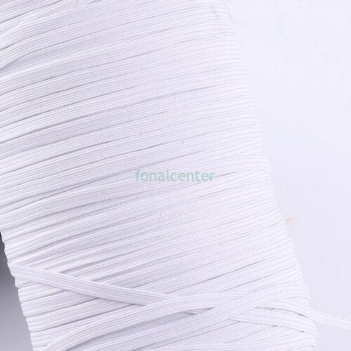 Extra puha gumi pertli, ( gumipertli ) - gazdaságos MEGA PACK - 50 m/csomag,  5 mm széles, fehér