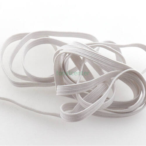 Extra puha gumi pertli, ( gumipertli )  - 5 mm széles, fehér, 1 méter is rendelhető