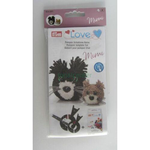 PRYM LOVE   pompon -készítő készlet, MIMI a kismacska, Kódszám: 624201