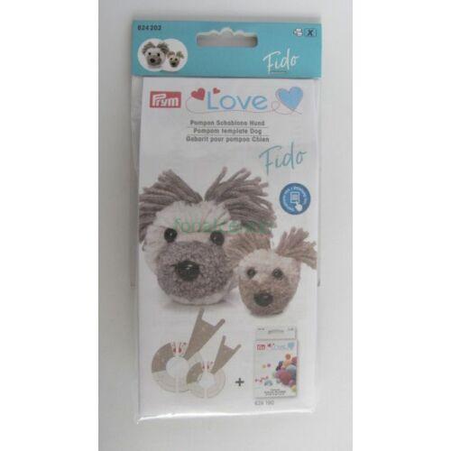 PRYM LOVE   pompon -készítő készlet, FIDO a kiskutya, Kódszám: 624202