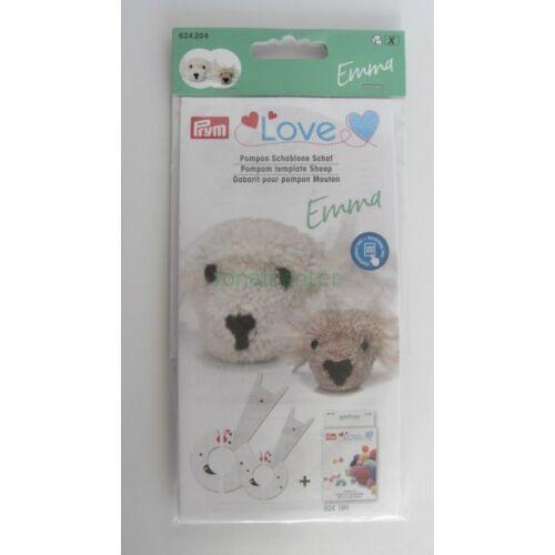 PRYM LOVE   pompon -készítő készlet, EMMA a kisbari, Kódszám: 624204