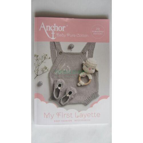 """Anchor """"My First Layette""""horgolási minta és mintaleírás gyűjtemény"""