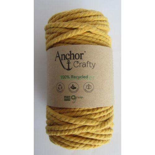 Anchor Crafty makramé fonal, mustársárga színű,  színkód:00108