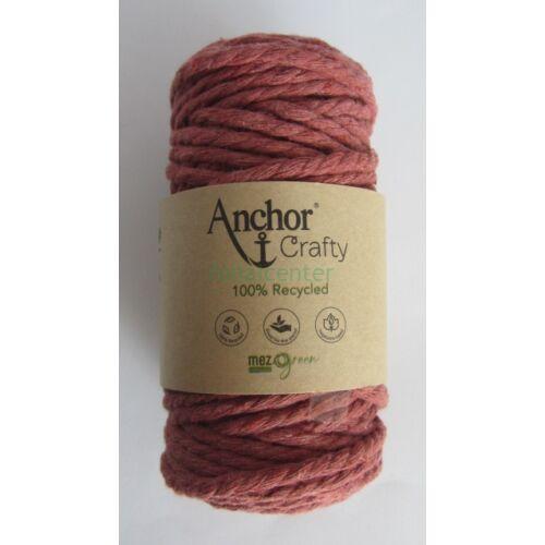 Anchor Crafty makramé fonal, téglavörös színű,  színkód:00116