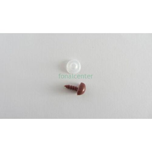Biztonsági orr játékhoz/bábuhoz, méret: 10 mm, barna színű-1 db