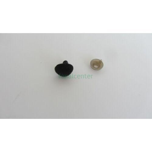 Biztonsági orr játékhoz/bábuhoz, méret: 10 mm, bársonyos, fekete színű - 1 db