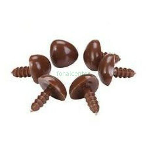 Biztonsági orr játékhoz/bábuhoz, méret: 15 mm, barna színű - 1 db