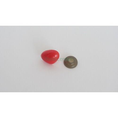 Biztonsági orr játékhoz/bábuhoz, méret: 20 mm, piros színű- 1 db
