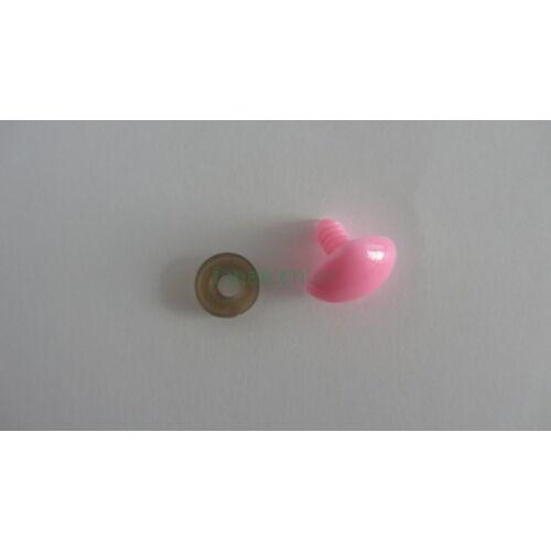 Biztonsági orr játékhoz/bábuhoz, méret: 20 mm, rózsaszínű - 1 db