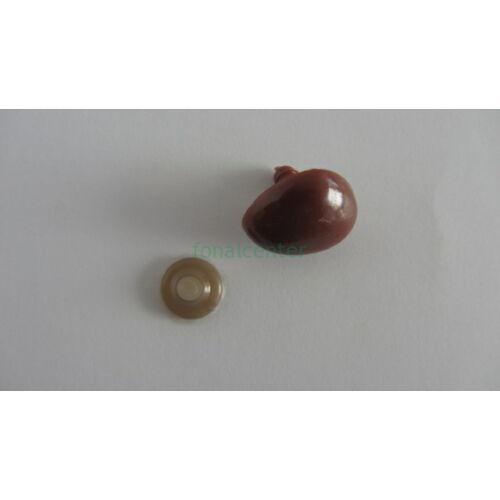Biztonsági orr játékhoz/bábuhoz, méret: 25 mm, barna színű - 1 db