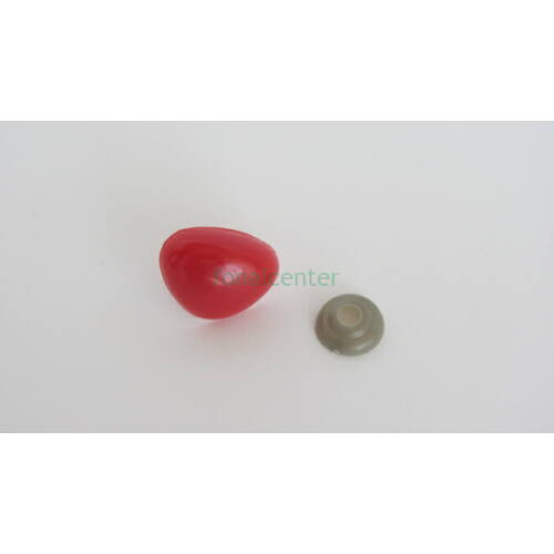 Biztonsági orr játékhoz/bábuhoz, méret: 25 mm, piros színű - 1 db