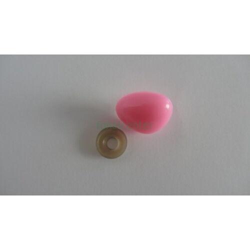 Biztonsági orr játékhoz/bábuhoz, méret: 25 mm, rózsaszínű - 1 db