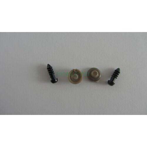 Biztonsági szem játékhoz/bábuhoz, méret: 05 mm, fekete színű - 3 pár