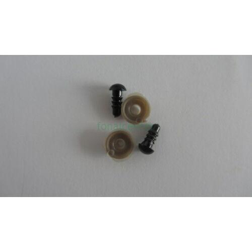 Biztonsági szem játékhoz/bábuhoz, méret: 06 mm, fekete színű - 3 pár