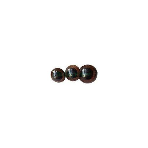 Biztonsági szem játékhoz/bábuhoz, méret: 10 mm, barna színű - 1 pár