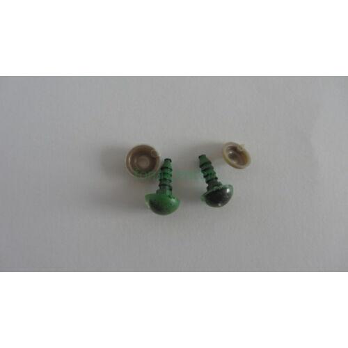 Biztonsági szem játékhoz/bábuhoz, méret: 10 mm, zöld színű - 1 pár
