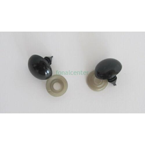 Biztonsági szem játékhoz/bábuhoz, méret: 15/16 mm, fekete színű - 1 pár