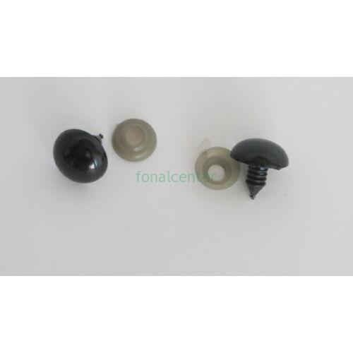 Biztonsági szem játékhoz/bábuhoz, méret: 18 mm, fekete színű - 1 pár