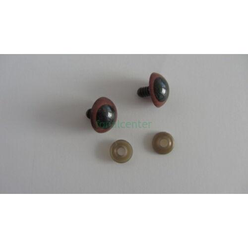 Biztonsági szem játékhoz/bábuhoz, méret: 20 mm, fekete színű - 1 pár