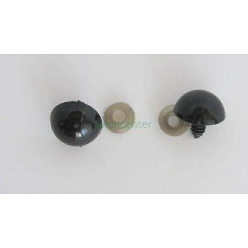 Biztonsági szem játékhoz/bábuhoz, méret: 22 mm, fekete színű - 1 pár