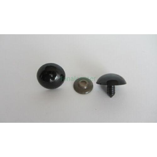 Biztonsági szem játékhoz/bábuhoz, méret: 30 mm, fekete színű - 1 pár