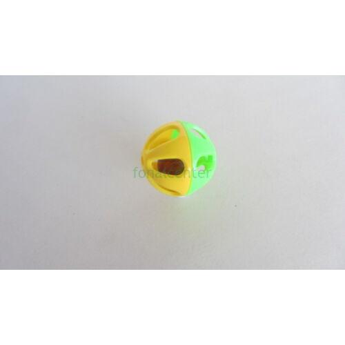 Csörgő játékhoz/bábuhoz, műanyag, színes, kerek, átmérő:36 mm