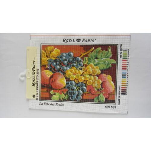 Le Fete des Fruits/Gyümölcsünnep-előnyomott gobelin kanava-Royal Paris00161