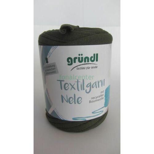 Gründl Textilgarn NELE német pólófonal, penész zöld színű, Színkód: 022