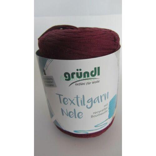 Gründl Textilgarn NELE német pólófonal, bordó, Színkód: 031
