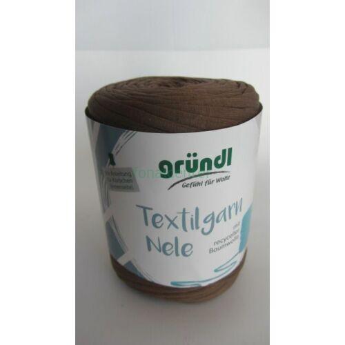 Gründl Textilgarn NELE német pólófonal, kávébarna, Színkód: 041