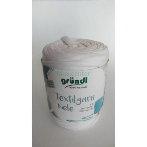 Gründl Textilgarn NELE német pólófonal, fehér, Színkód: 071