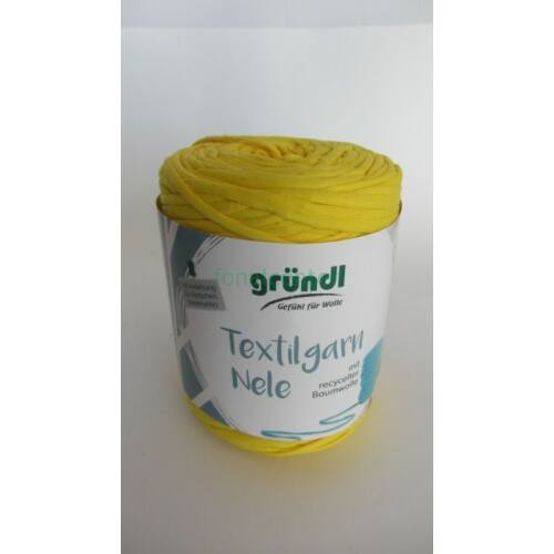 Gründl Textilgarn NELE német pólófonal, citromszínű, Színkód: 081