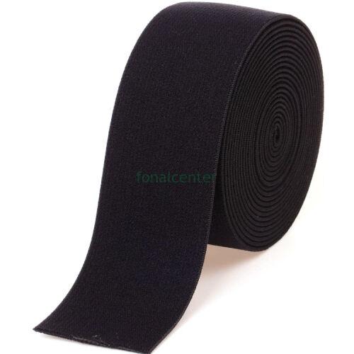 Minőségi plüss gumi pertli, ( gumipertli )  -  38 mm, fekete, akár 1 méter is rendelhető!