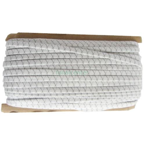 Szuper erős és tartós gumi pertli, ( gumipertli ) - gazdaságos BIG PACK - 25 m/csomag,  10 mm széles, fehér