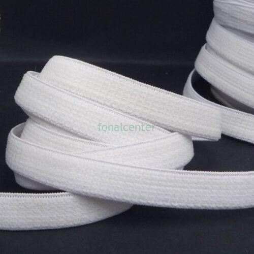 Minőségi plüss gumi pertli, (gumipertli)  -  13 mm, fehér, gazdaságos BIG PACK   - 25 méter/csomag