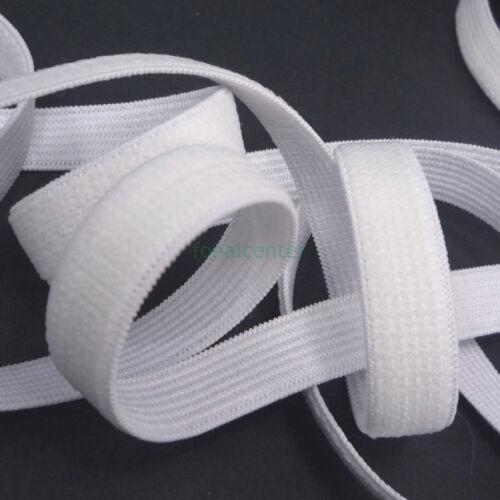 Minőségi plüss gumi pertli, (gumipertli)  -  13 mm, fehér, gazdaságos CSALÁDI CSOMAG  - 10 méter/csomag