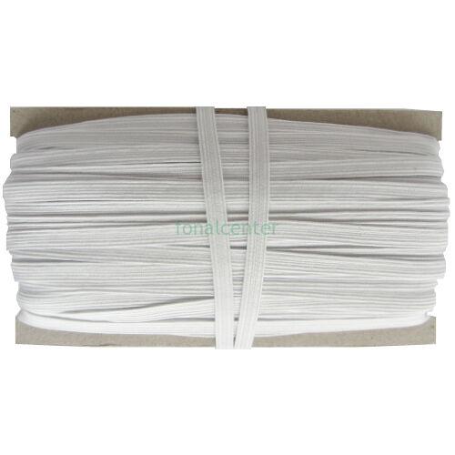 Hagyományos gumi pertli, ( gumipertli ) - gazdaságos BIG PACK - 25 m/csomag,  8 mm széles, fehér