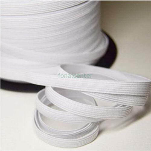 Hagyományos gumi pertli, ( gumipertli ) - gazdaságos CSALÁDI CSOMAG - 10 m/csomag,  8 mm széles, fehér