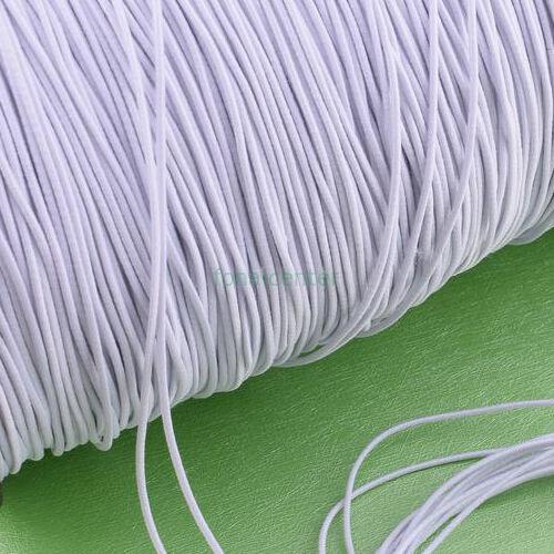 Minőségi, hagyományos kalap gumi, ( kalapgumi )  -  2 mm fehér, gazdaságos MEGA PACK - 50 m / csomag