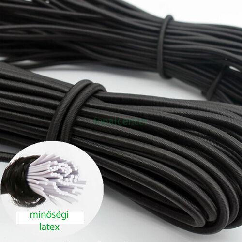 Minőségi, hagyományos kalap gumi, ( kalapgumi )  -  2,2 mm fekete, gazdaságos BIG PACK  - 25 méter/csomag