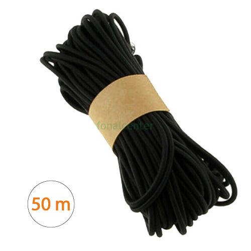 Minőségi, hagyományos kalap gumi, ( kalapgumi )  -  2,2 mm fekete, gazdaságos MEGA PACK  - 50 méter/csomag