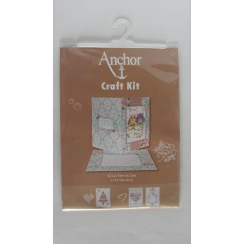 Thank You Card-köszönő képeslap-leszámolható keresztszemes készlet-Anchor37