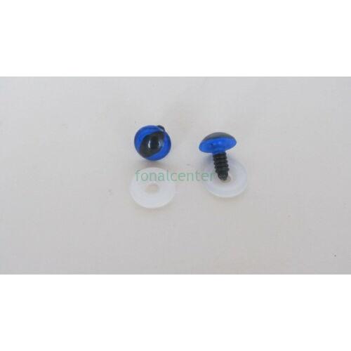 Biztonsági szem játékhoz/bábuhoz, méret: 13,5 mm, kék színű - 1 pár