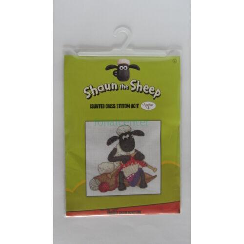 Shaun knitting/Shaun köt-leszámolható keresztszemes készlet- AnchorShaun the Sheep7