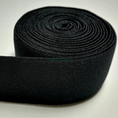 Minőségi plüss nadrág gumi, ( nadrággumi )  -  38 mm, fekete, gazdaságos MEGA PACK  - 50 méter/csomag