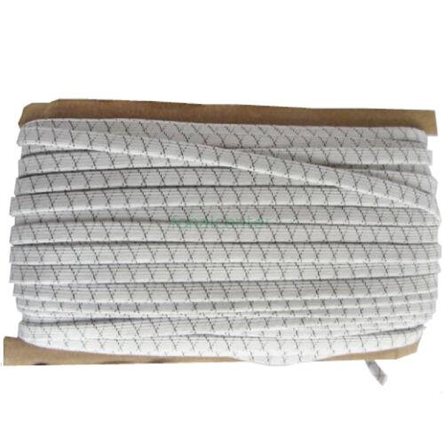Nadrág gumi, ( nadrággumi )  -  Szuper erős, tartós, 10 mm, fehér, gazdaságos MEGA PACK  - 50 méter/csomag