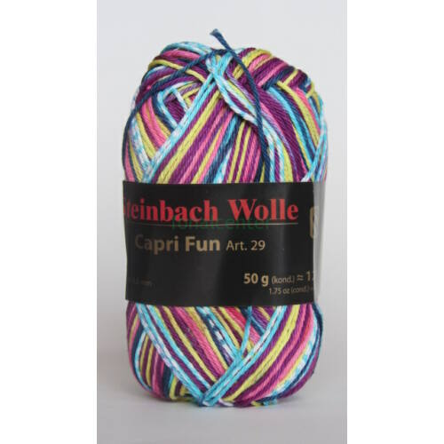 Steinbach Wolle Capri Fun  Art. 29 osztrák multicolor kötőfonal színkód:02