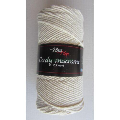 Cordy macrame  2,5 mm fonal, 180 m -krém színű -  cseh minőségi  makramé fonal, színkód:8124